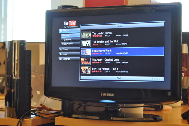 Видео с Ютуб на телевизоре