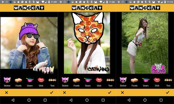 Похожее на msqrd - Wangcats stickers