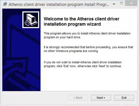 Установка Atheros Client Installation Program