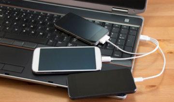 Телефоны подключены от USB для компьютеру
