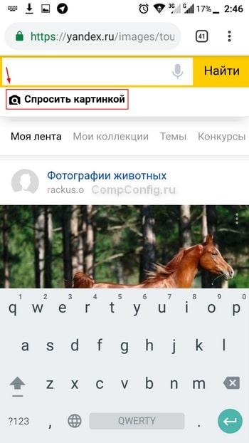 Яндекс поиск по картинке с мобильного